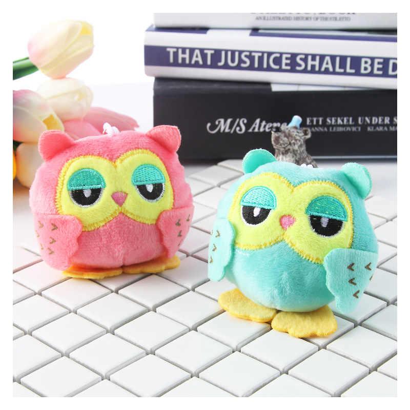 2 цвета 9 см игрушки на цепочке для ключей милая сова, плюшевые игрушки плюшевая игрушка сова брелки маленькие кулоны-куклы подарок на свадьбу