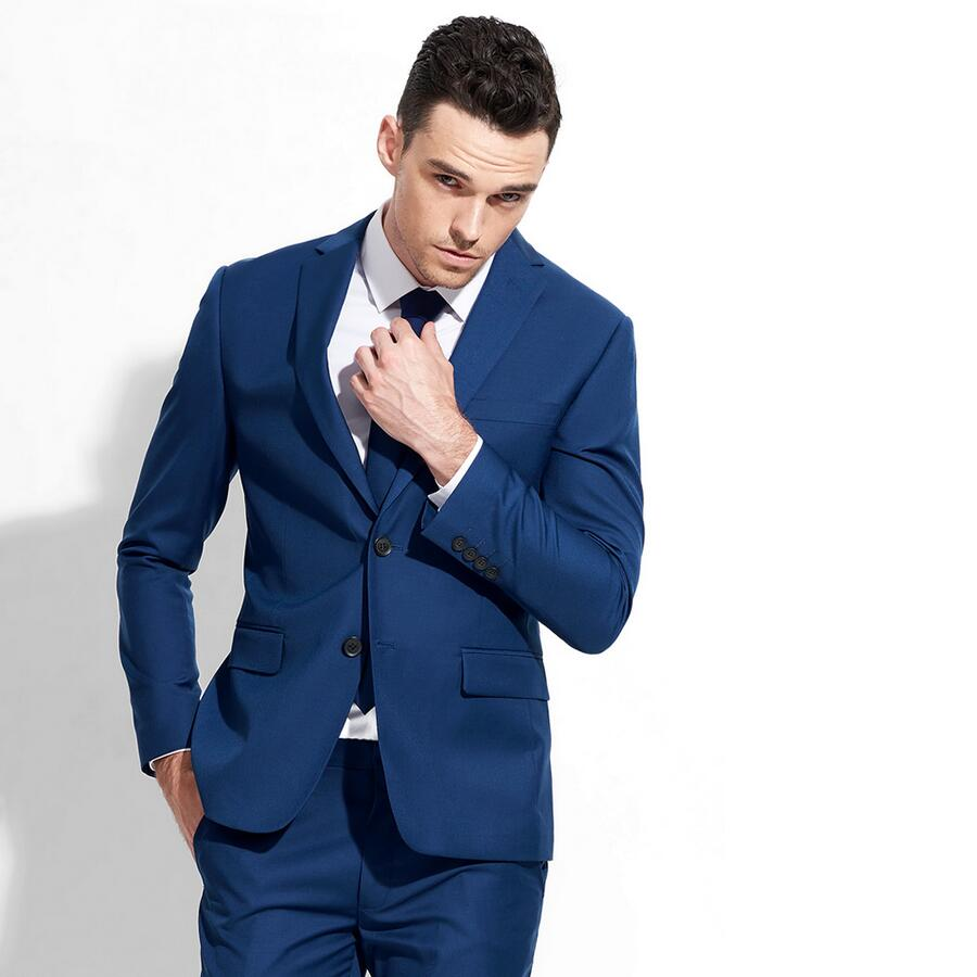ᑐCustom of the Men\'s suits royal blue suit best man formal wedding ...