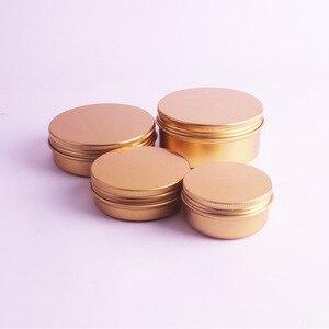 Image 2 - Bocaux pour crème en aluminium or, Pot demballage cosmétique en métal pour rouge à lèvres, de 50ml,60ml,100ml,150ml, lot de 20 pièces