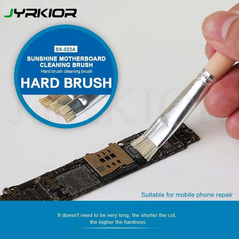 Jyrkior Mobile Phone Motherboard Welding Pad Clean Brush Hard Brush Stiff Brush For Solder Paste Welding Oil Flux Clean Tool