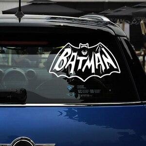 Aliauto Auto-styling Refective Auto Sticker/Decal Demon Batman Mantel Cover Krassen Voor Ford Focus Fiesta Honda civic Fit kia