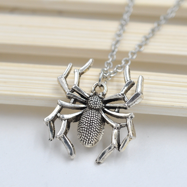 Animal spider pendant necklace with chain fashion jewelry for men animal spider pendant necklace with chain fashion jewelry for men and women punk fashion jewelry gift aloadofball Image collections