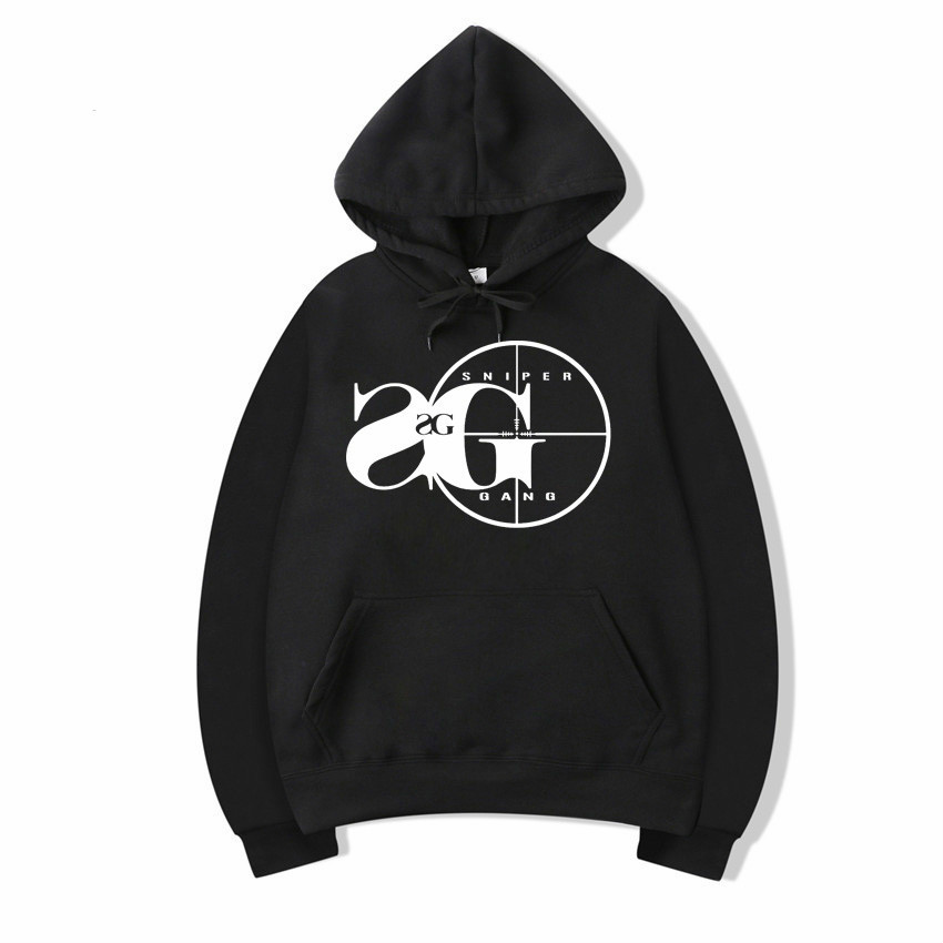 Vsenfo Sniper Gang Hooded Sweatshirt Kodak Black RAP Hip Hop Unisex Hoodie Cool Version Street Pullover Hoodies Men Women