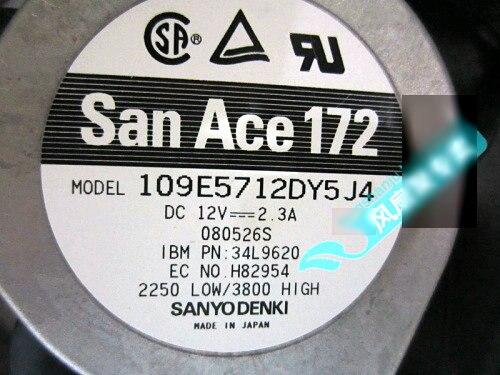 все цены на Original SANYO 109E5712DY5J4 17cm 12V 2.3A PN: 34L9620 server cooling fans онлайн