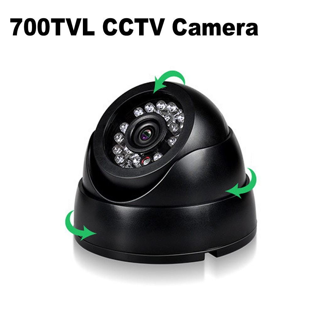 цена на 700TVL CCTV Camera Dome 24PCS IR LEDs Night Vision Security Camera Color IR Indoor Video Surveillance Camera 900TVL 1200TVL