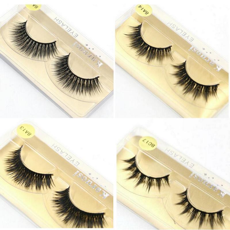 50 pairs/lot Wholesale Eyelashes faux mink lashes Handmade ...