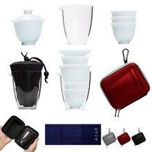 TANGPIN ceramic teapots kettle gaiwan teacups chinese teaware portable travel tea set with bag