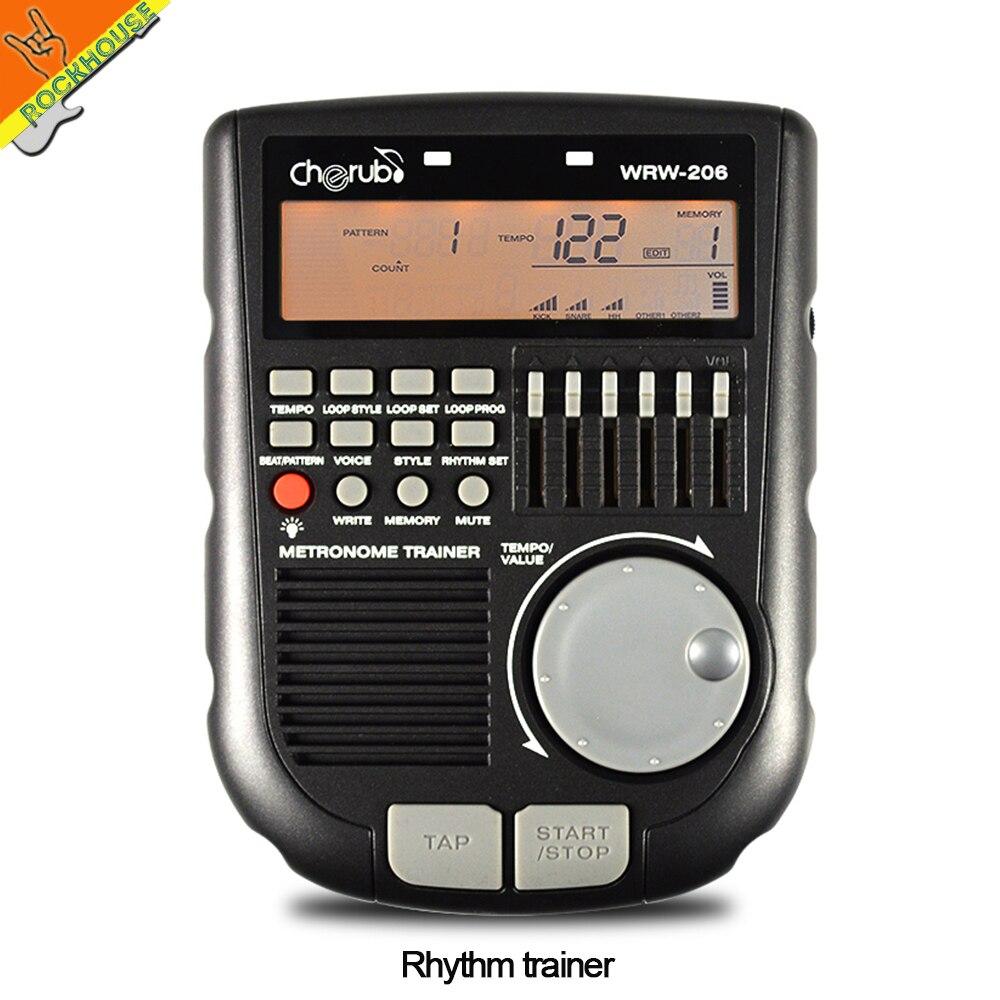 Cherub WRW-206 Digital Drum Metronome Rhythm Editor Portable Drummer Rhythm Trainer Multiple Functional Metronome Free Shipping korg kdm 3wh digital metronome white