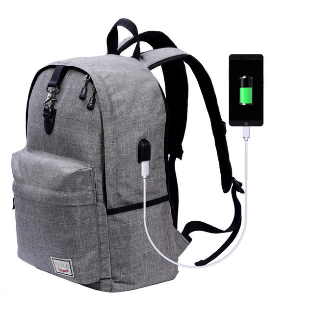 98b4f6e5201 Laptop Backpack Anti-theft Water Resistant Travel laptop backpack with USB  Charging Port School Bookbag College Travel Backpack