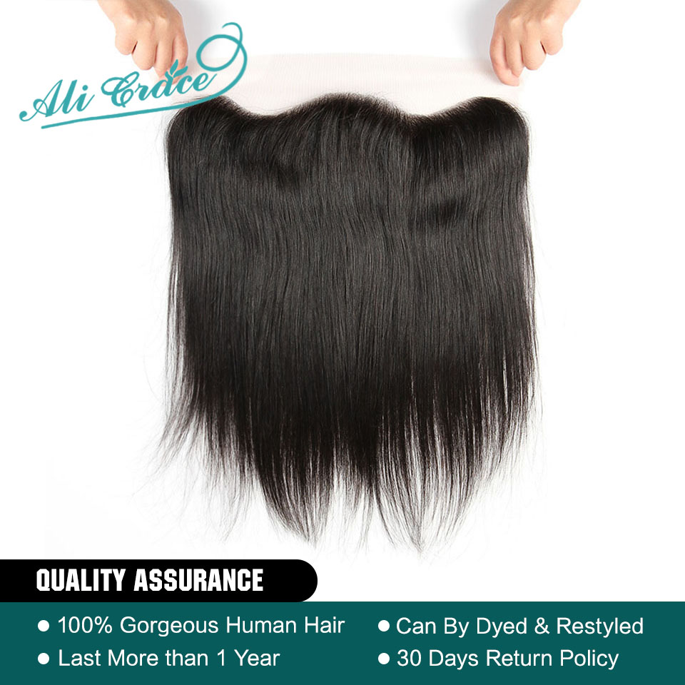 Human Hair Weaves Hair Extensions & Wigs Ali Pearl Hair Closure Brazilian Straight Human Hair Lace Closure 4x4 Free Middle Three Part With Baby Hair Remy Hair 8-20 Inch Delicacies Loved By All