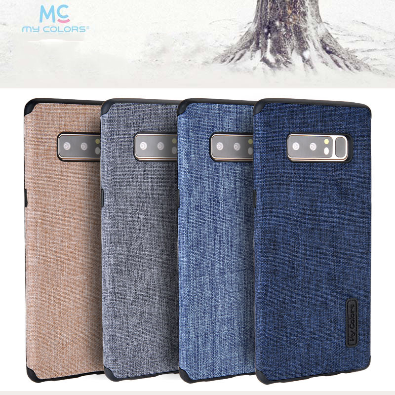 Toraise For Samsung Note 8 Case Non-slip Cotton Cloth Soft TPU Back Cover Case for Samsung Galaxy Note 8 Galaxy note8 Phone