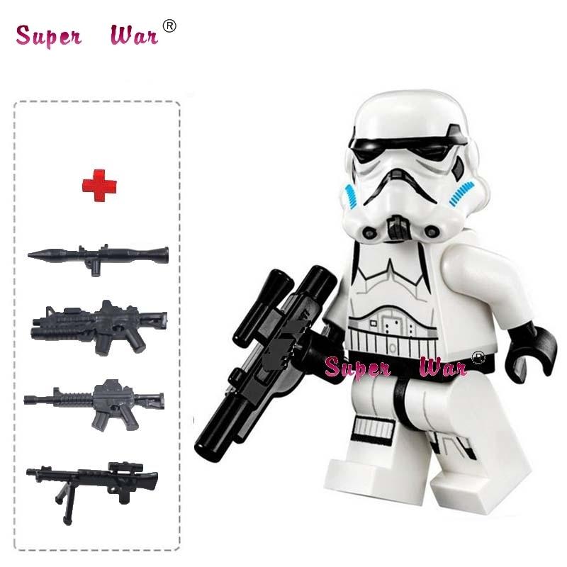 все цены на one piece star wars superhero Stormtrooper Storm trooper building blocks lepin action  sets model bricks toys for children