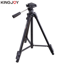 KINGJOY Officia VT-910 Camera Tripod Stand Profesional Alloy With Rocker Arm For All Models Flexible Portable Stativ Holder