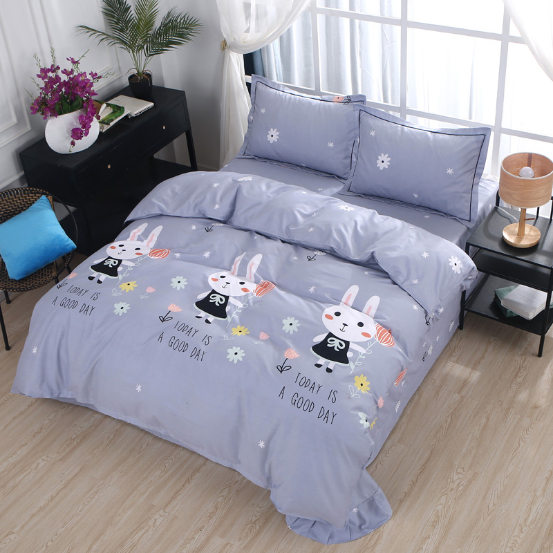 100%Cotton Soft fabric Cute Bedding set for kids children adults Twin Queen set Duvet cover Bed sheet set Pillowcases