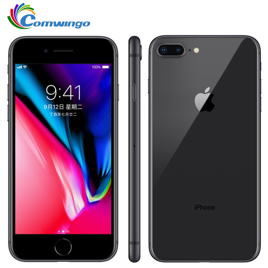 Original Da Apple iphone 8 Plus 64 3GB de RAM-256 GB ROM Núcleo Hexa Desbloqueado iOS 5.5 polegada 12MP Impressão Digital 2691mAh Telefone Móvel LTE