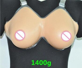 Silicone Fake False Breast crossdresser silicone breast form silicone breast chest prosthesis 1400g 38DD/40D-36E Free shipping
