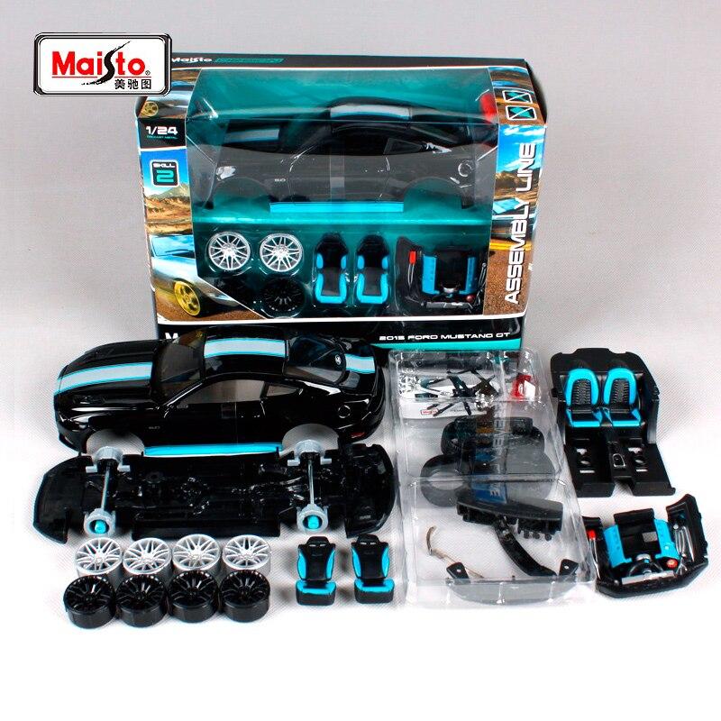 Maisto 1:24 2015 フォードマスタング GT 5.0 組立 Diy ダイキャストモデルカー玩具新ボックス送料無料 39305  グループ上の おもちゃ & ホビー からの モデル構築キット の中 1