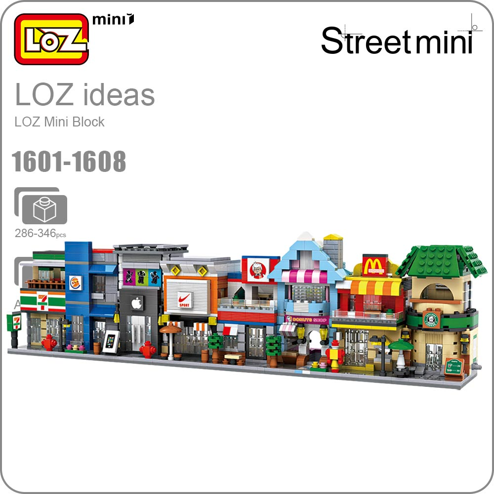 купить LOZ Blocks City Mini Street Bricks Set Architecture Building Blocks Educational Toys For Children Forge World House 1601-1608 по цене 481.76 рублей