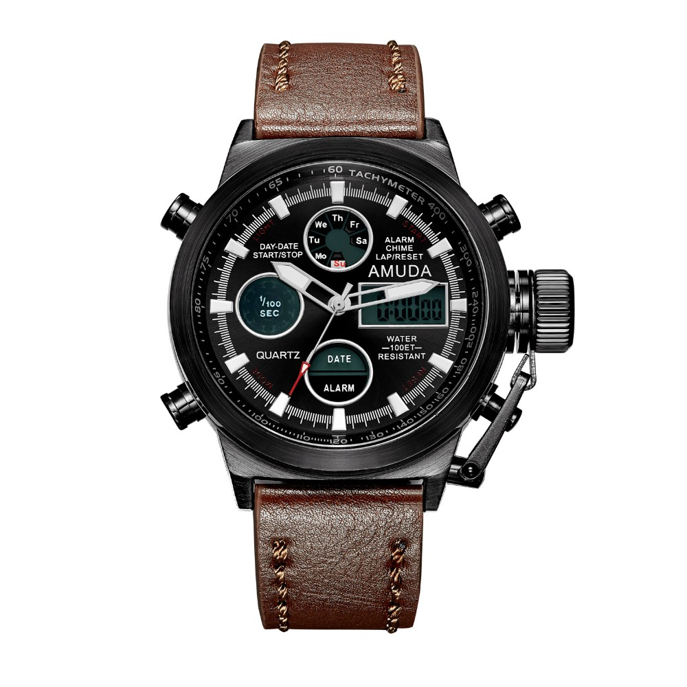 Amuda Men Military Sport Watch