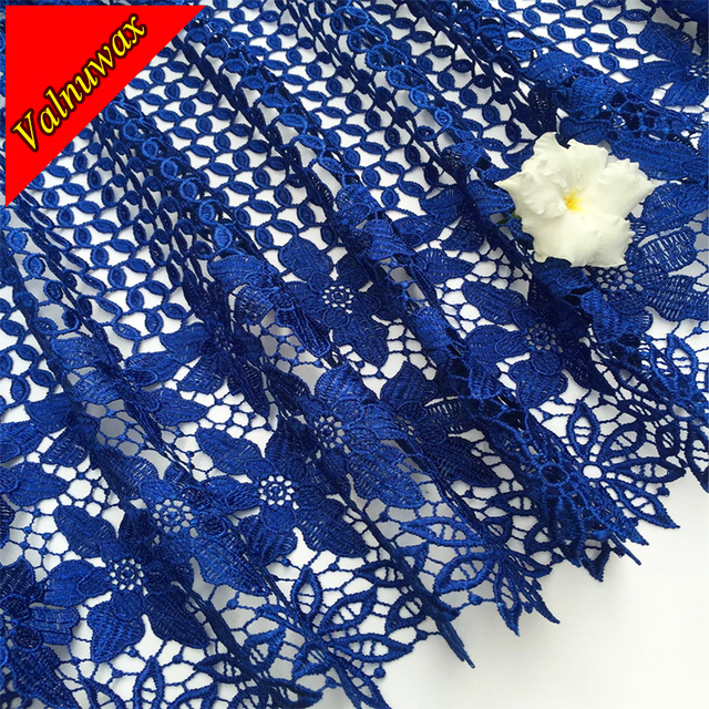 African Lace Fabric Mesh New Arrival royal blue Color african cord Lace Guipure lace Fabrics High Quality For Wedding -YJ