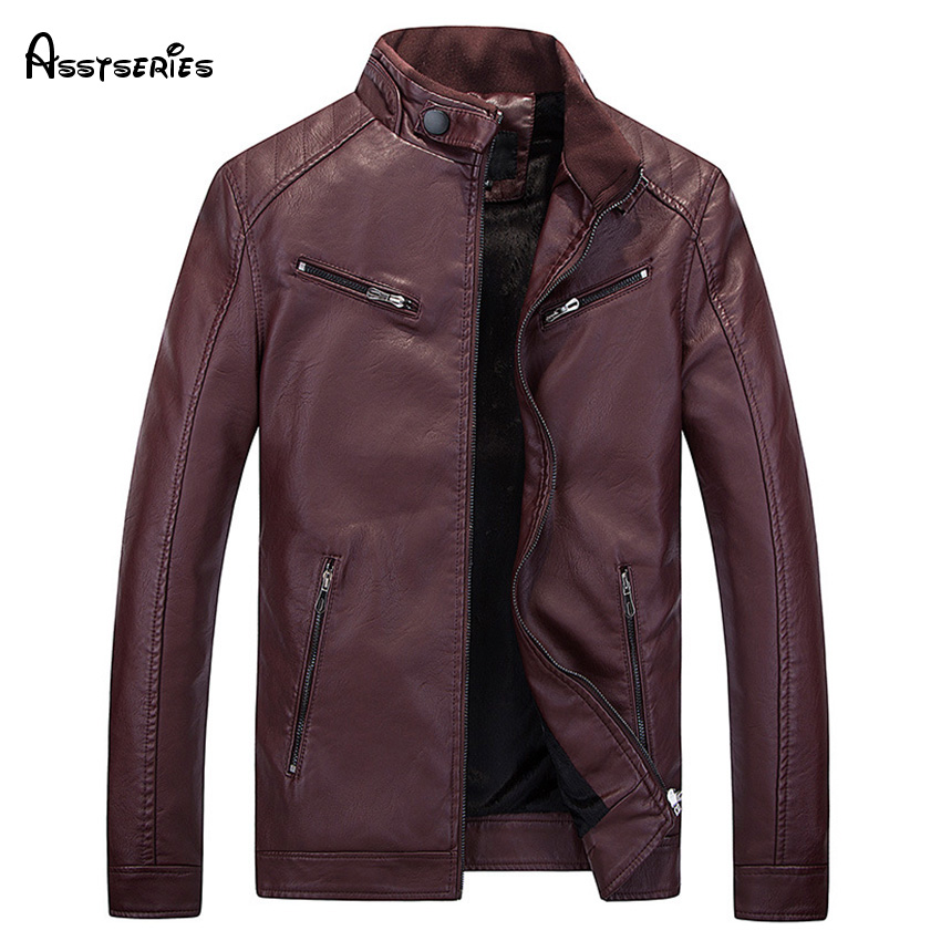 2018 Free SHipping Mens Leather Jackets American Style PU Motorcycle Leather Mens Leather Jacket Coat Man D88