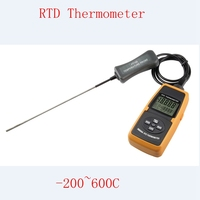 High Precise Industrial Digital Platinum Resistance Thermometer PT100 Probe Data Record 200C 600C RTD Temperature Measurement