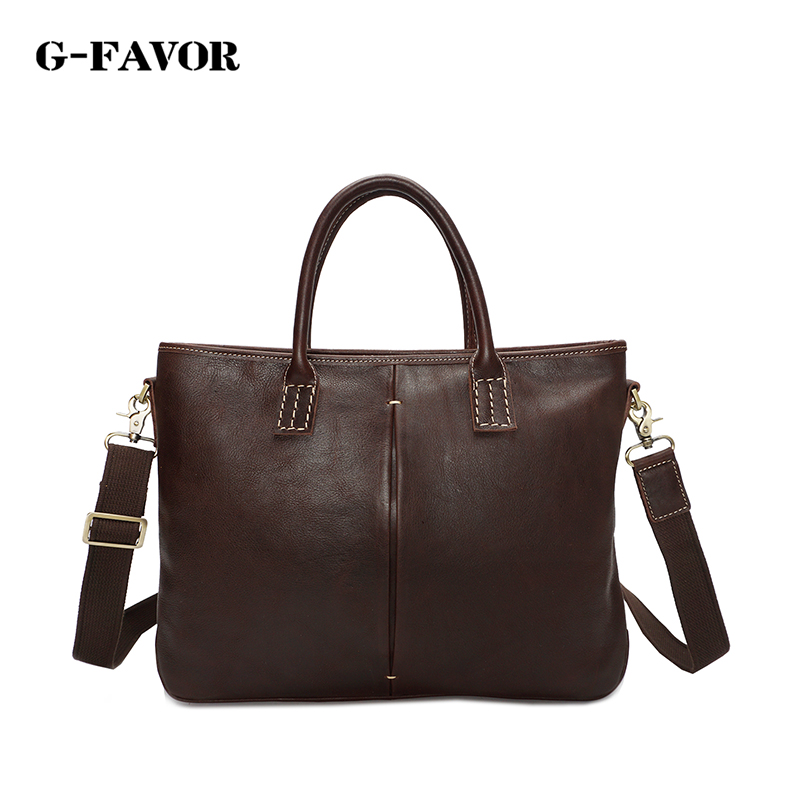 Promotion Simple Famous Brand Business Men Briefcase Bag Luxury Genuine Cowhide Leather Laptop Bag Man Shoulder Bag bolsa maleta