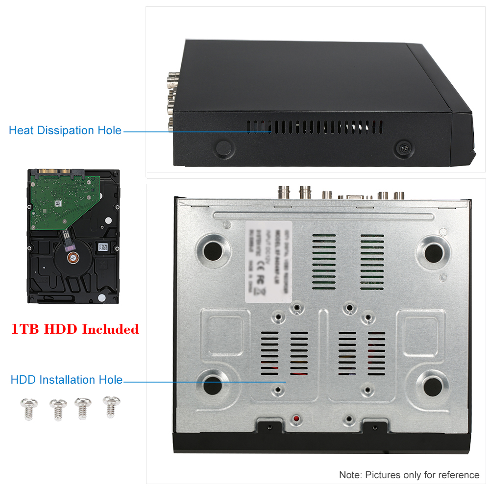 Kkmoon 1tb Hdd 8ch Channel Full 1080n720p Ahd Dvr Nvr Harddisk Cctv Surveillance Seagate 1080n 720p 4ch Hvr Hdmi P2p Onvif Recorder Pnp For Security System In Video