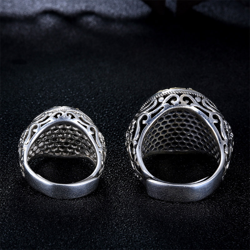 925 Sterling Silver Rotatable Mantra Ring 4