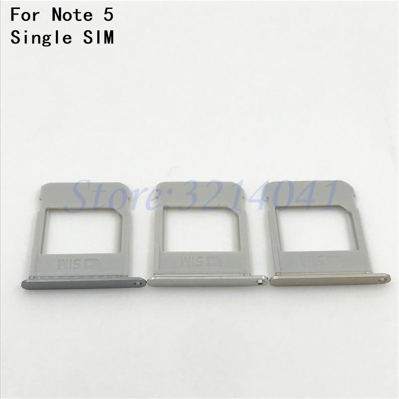 Single SIM New original For Samsung Galaxy Note 5 N920F N920 N9200 Nano SIM Card micro SD Tray Slot