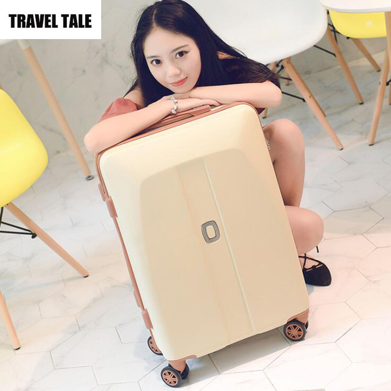 "TRAVEL TALE 20""24""26 inch travel luggage trolley with wheels retro suitcases for girls"