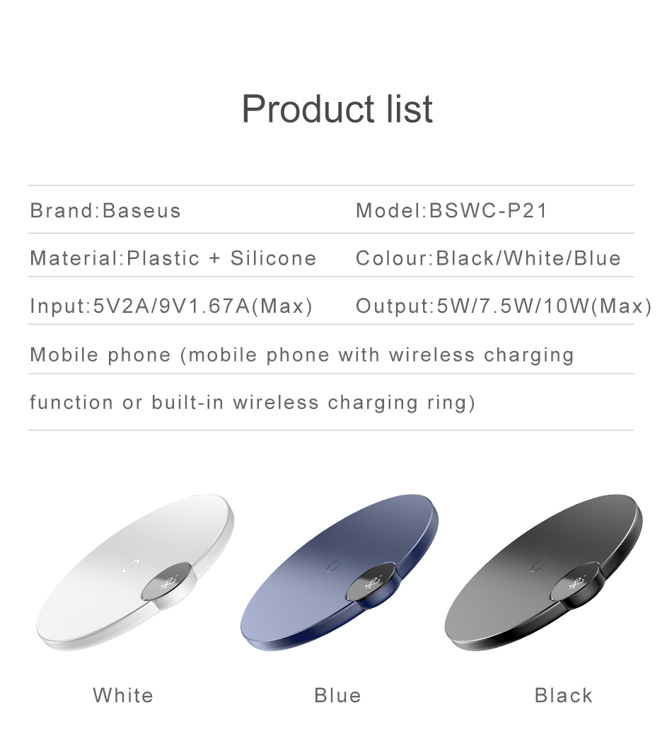 Baseus LED Qi Wireless Charger For iPhone Xs Max X 8 10W Fast Wirless Wireless Charging Pad For Samsung S10 S9 Xiaomi MI 9 MIX 3 15
