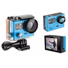 Супер 4 К 30 кадров в секунду водонепроницаемый wi-fi камера действий с двойной дисплей 30 м камеры undere водные виды спорта dgitial видео камера