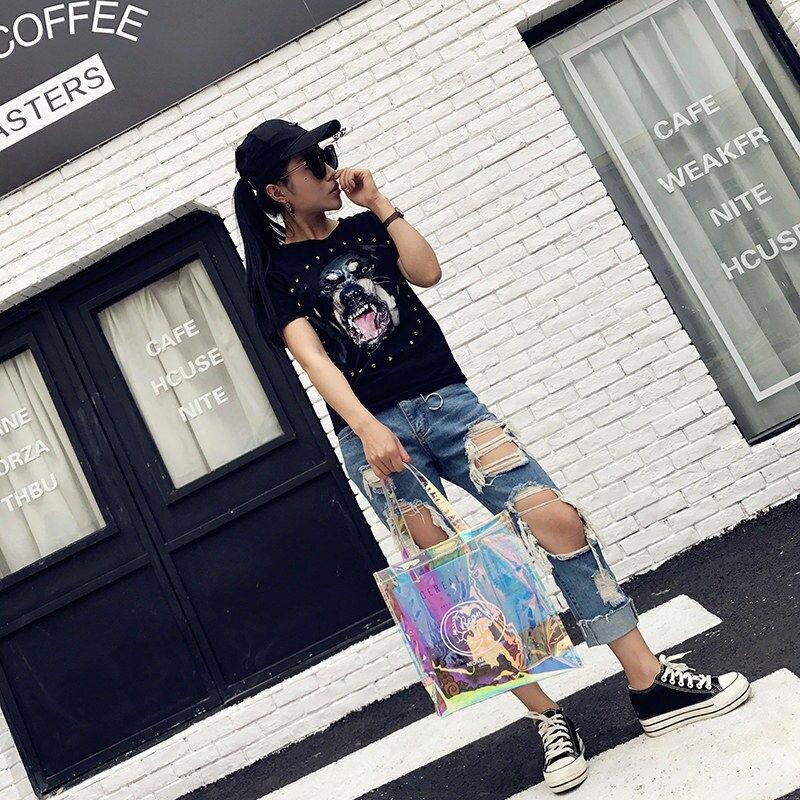 9fb10299bf67 Summer Clear Bags Beach Women Handbags Hologram Glitter Transparent PVC  Shopping Bags Cheap Women Bag Bolsos Transparentes Mujer-in Shoulder Bags  from ...