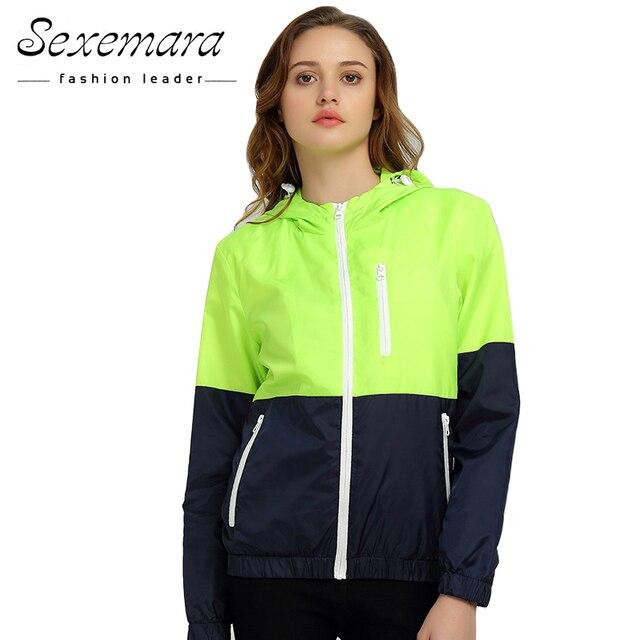 Jackets Women 2016 Autumn New Fashion Jacket Womens Hooded basic Jacket Casual Thin Windbreaker female jacket Outwear Women Coat