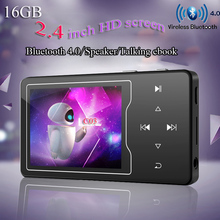 2019 16GB Bluetooth 4.0 MP3 Player with Speaker 2.4 Inch TFT Color Screen, FM/Voice Recorder Lossless Sound Metal Music Player new 16gb bluetooth 4 1 mp3 music player touch key ultra thin 1 8 inch color screen hifi quality sound with fm voice recorder