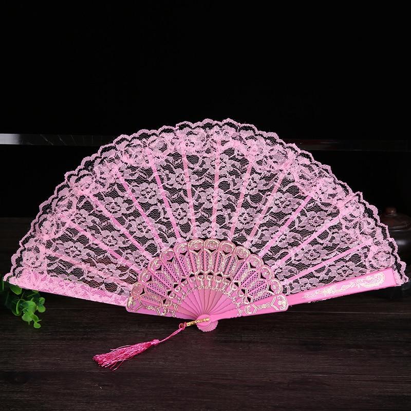 Damen Klappspitze Hand Fan Großhandel Personalisierte Fans der Alten - Wohnkultur - Foto 5