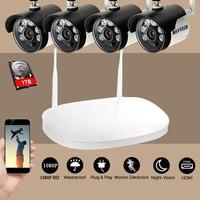 DAYTECH CCTV Surveillance System 1080P HD 4CH HDMI VGA Wireless NVR Kit Waterproof 2MP Security Camera
