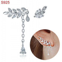 Real Pure Genuine 925 Sterling Silver Dangle Earrings