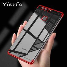 Huawei P9 Transparent Plating case for huawei P9 plus case Ultra thin soft TPU electroplate back cover for huawei p10 lite plus все цены
