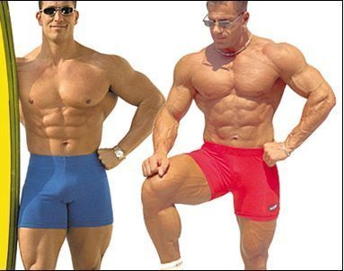 Sexy Men Fit The Clothes Customize Low Waist Strong And Handsome Shorts Fitness  Tight 100% Cotton Sexy High Waist