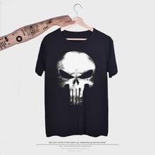 Brand Skull T shirt Skeleton T-shirt gun Tshirt Gothic shirts Punk Tee vintage rock t shirts 3d t-shirt anime male styles