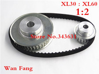 Timing Belt Pulley XL Reduction 2 1 60teeth 30teeth Shaft Center Distance 120mm Engraving Machine Accessories