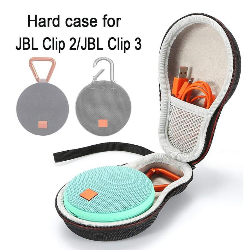 VODOOL EVA Hard Case Carrying Cover Handbag For JBL Clip 2 3 Bluetooth Wireless Speaker Storage Bag Protective Box Pouch ShellVODOOL EVA Hard Case Carrying Cover Handbag For JBL Clip 2 3 Bluetooth Wireless Speaker Storage Bag Protective Box Pouch Shell