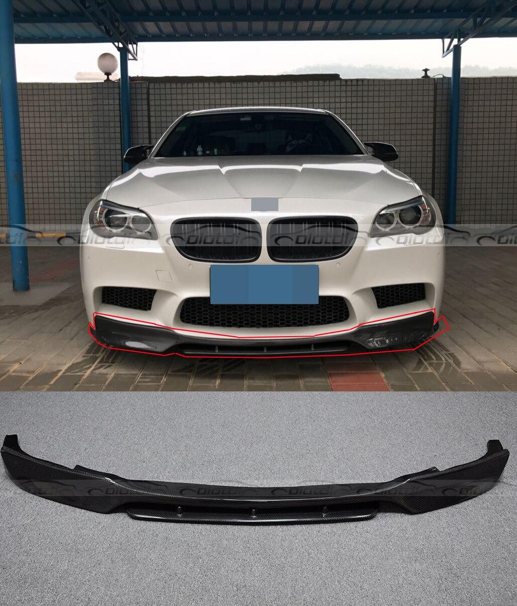 OLOTDI voiture Tuning V style fibre de carbone avant lèvre pare-choc fendeur pour BMW F10 M5 pare-chocs 2010-2016 (seul fit Real M5)