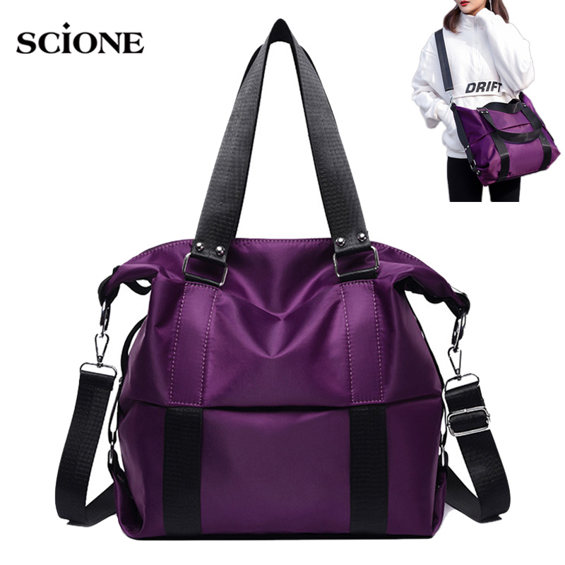 Multifunctional Women Gym Bag Shoulder Crossbody Mommy Handbag Travel Bags Large Luggage Tote Nylon Pack Sac De Sporttas XA811WA
