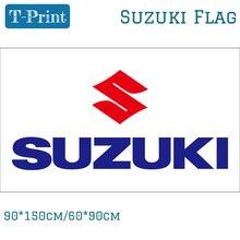 Флаг Suzuki для автомобилей Suzuki Cycles Motor полиэстер 90*150 см 60*90 см Баннер