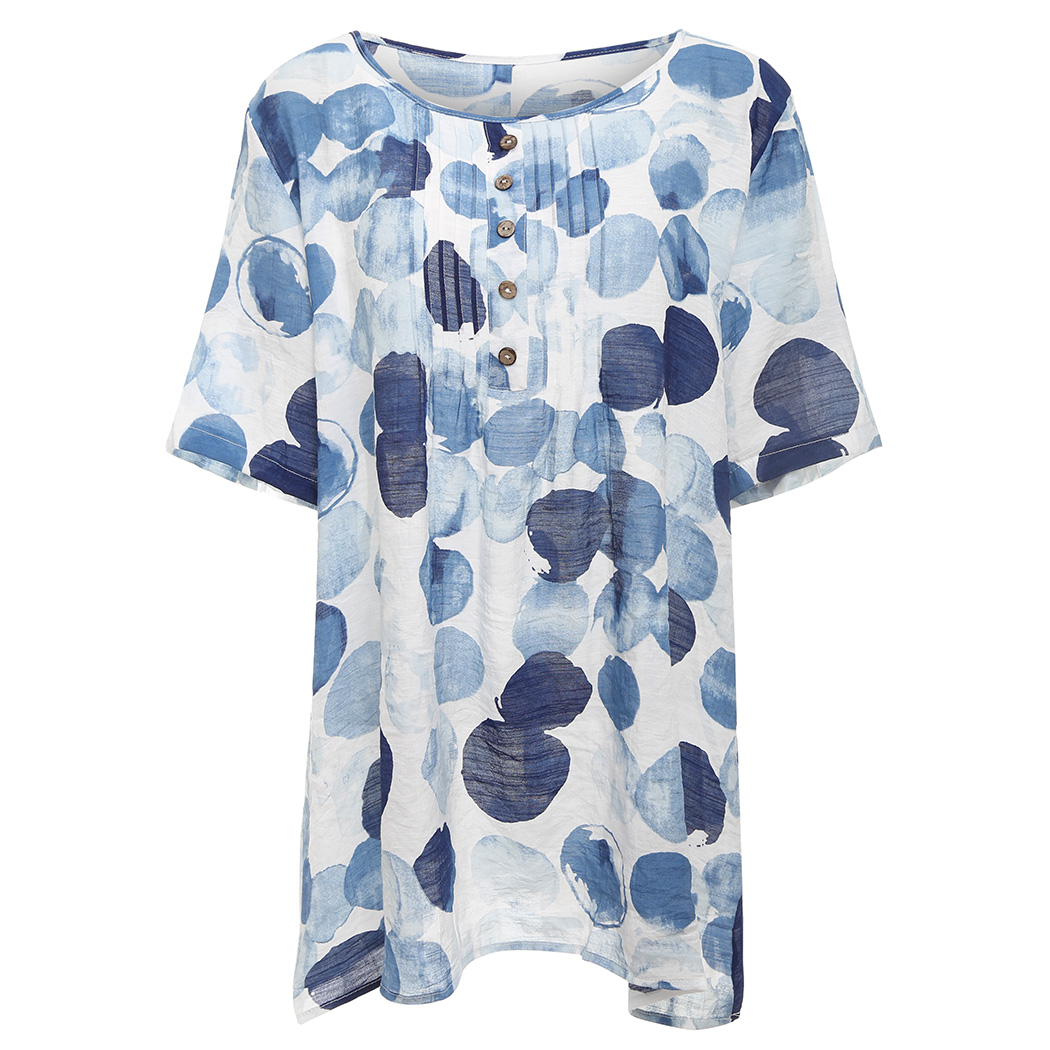 Summer Vintage Linen Cotton Blouse Women Tops Cotton Loose Tunic Printed Loose Ladies Button Shirts Blusa Feminina Plus Size A4 Blouses & Shirts