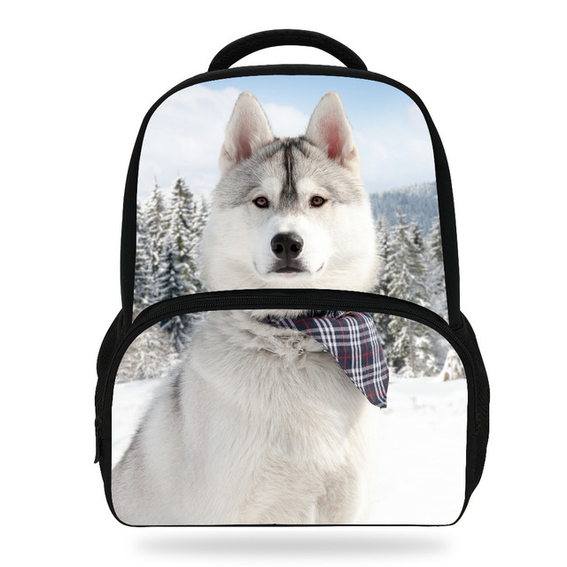 14-Inch Popular Kids Animals Backpack Cute Girls Schoolbag Children Husky  Dog Backpack Boys Student BookBag Rucksack 9c24c46c97692