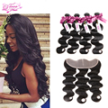 Peruvian Virgin Hair With Closure Peruvian Body Wave Lace Frontal Closure With Bundles Queen Hair Products With Closure 4Bundles